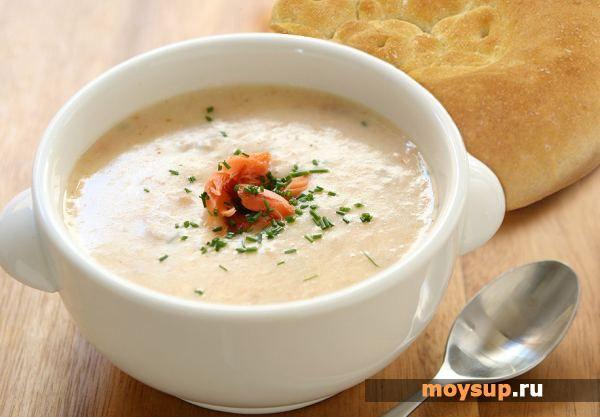 Лососевый суп-пюре