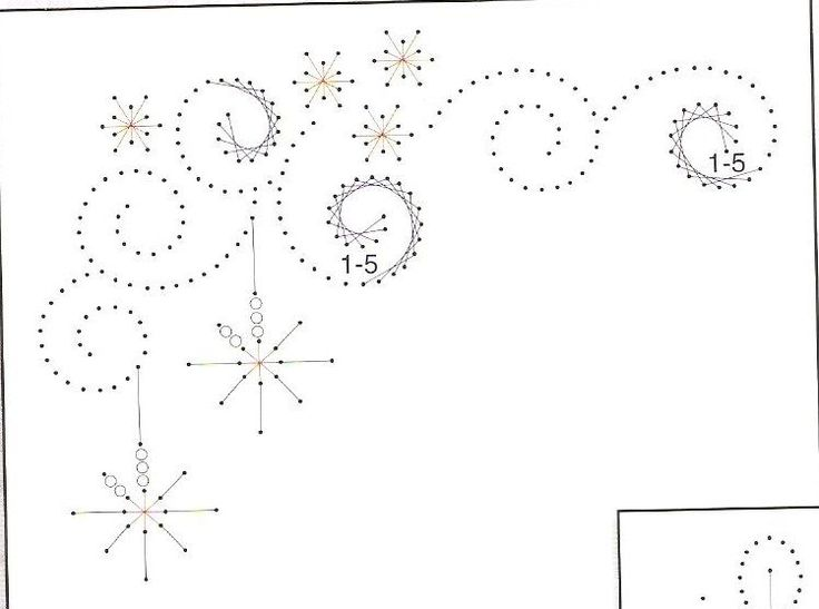 Ed079 Christmas Star Paper Embroidery Templates T