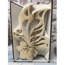 BUTTERFLY AND FLOWER - book folding pattern - book folding template - bookfold - altered books - book art - Bookami® - papercrafts - origami - crafts - mothers day - easter crafts - paper crafts - wedding crafts