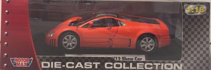 MotorMax Orange Volkswagen Nardo W12 Show Car Diecast 1:18 NIB