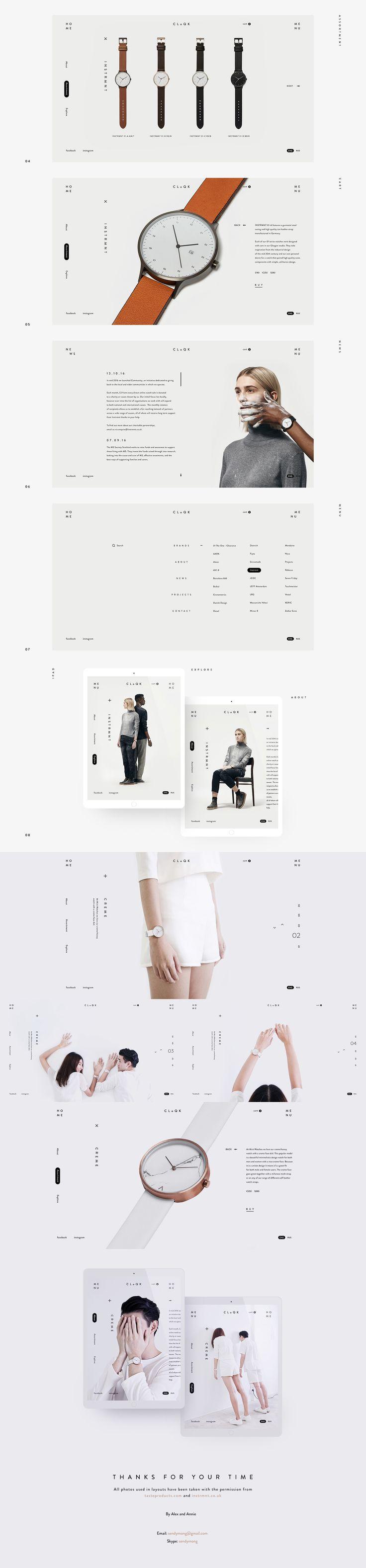 CLoQK Interface UI/UX Direction artistique Conception de sites Web