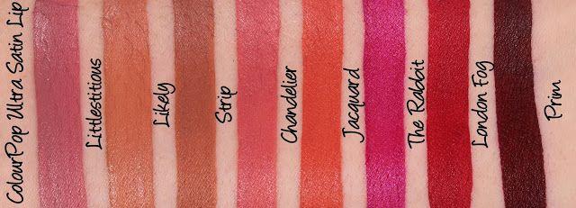 ColourPop Ultra Satin Lip - Littlestitious, Likely, Strip ...