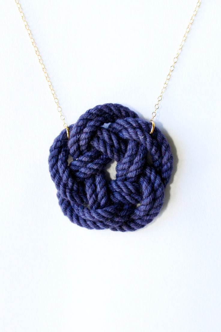 Sailor knot necklace  nautical jewelry  nautical by SeaAndCake, $38.00