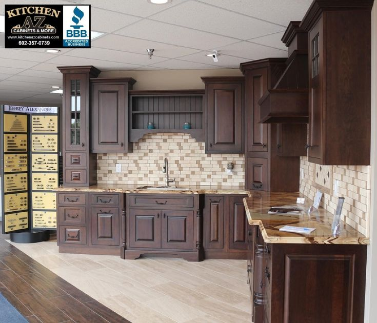 Kitchen Cabinets In Phoenix Remodeling Showroom Starmark Dealer. Natural  Stone BacksplashCustom ...