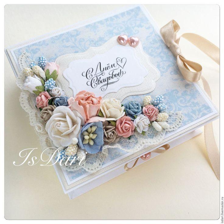 """Купить Коробочка для денег """"С днём свадьбы"""" - коробочка для денег, свадьба, свадебный подарок"""