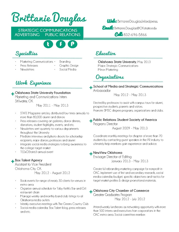 55 best Resume Styles images on Pinterest Resume styles, Design - public relations intern resume