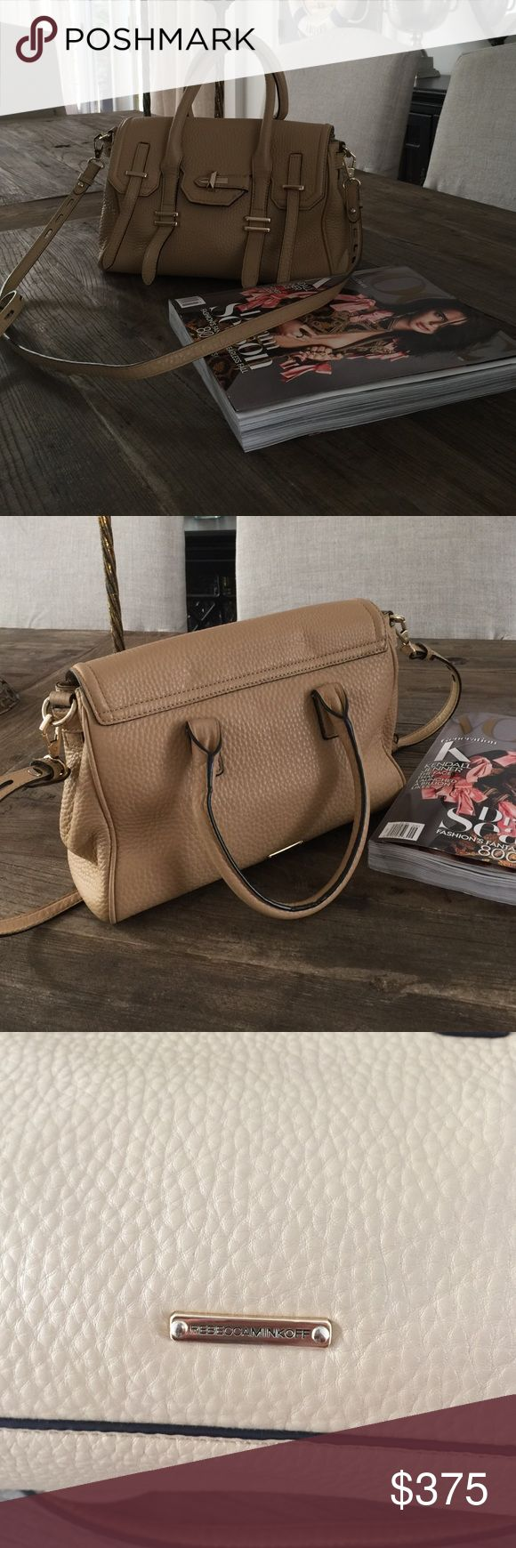 Rebecca Minkoff Tan Purse This medium sized purse can hold just about everything. It is in MINT condition Rebecca Minkoff Bags Crossbody Bags