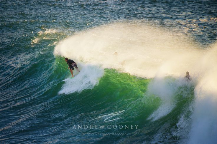 Big surf at Terrigal Beach in the early morning, creates for great sports photography!