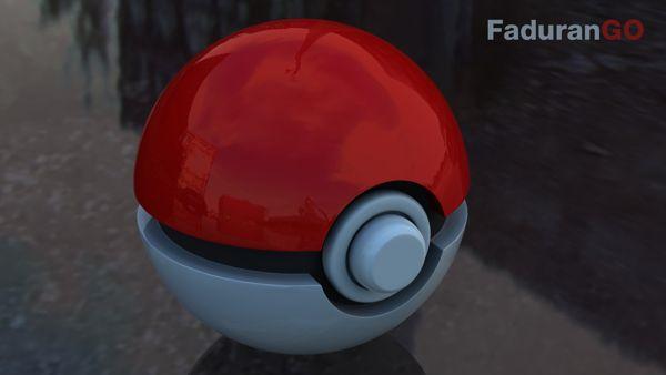 Pokeball 3D by Nino Durango, via Behance