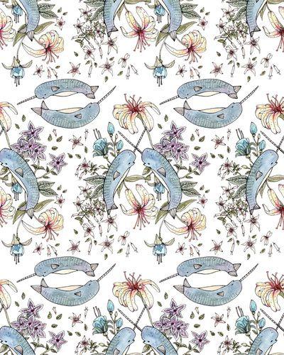 Narwhal pattern by Brooke Weeber @Elizabeth Lockhart Lockhart Ryan :o