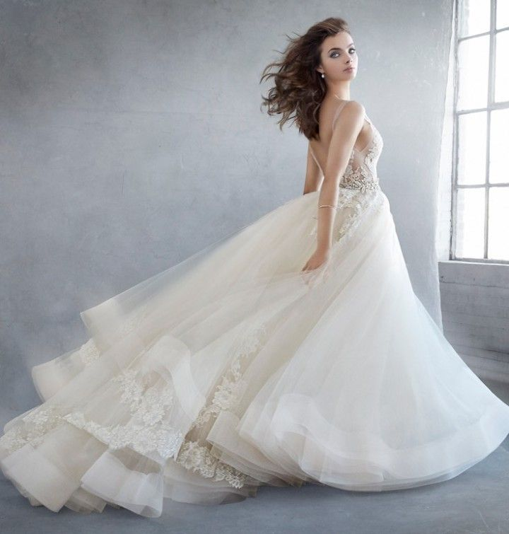 Breathtaking ballgown Lazaro wedding dresses