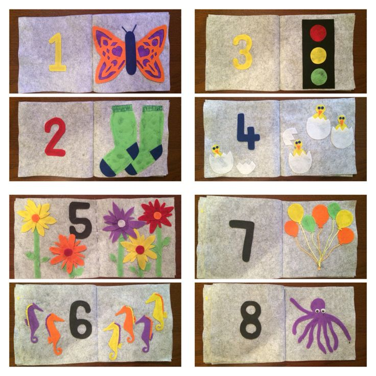 Counting with Angus. Baby felt book I made as a baby gift.