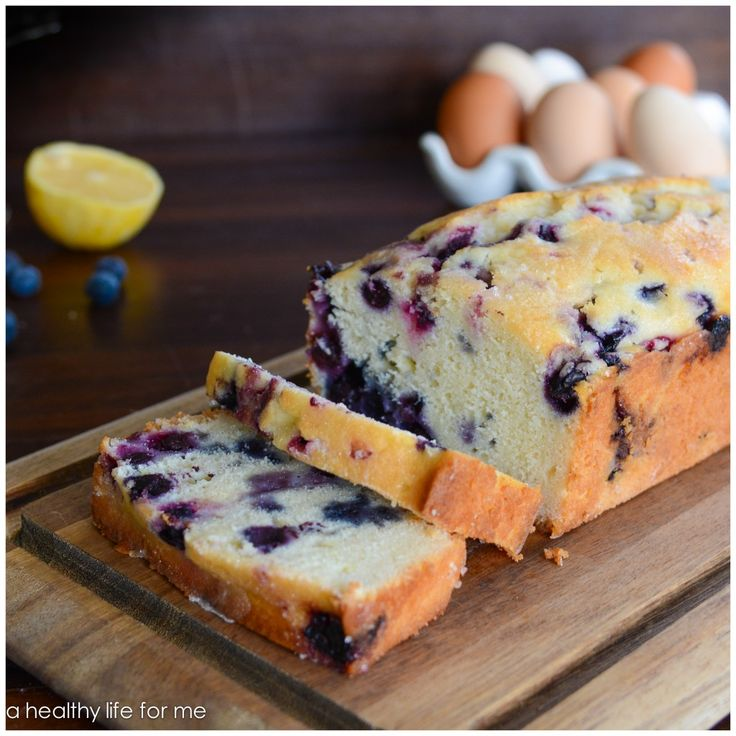 Lemon-Blueberry Bread - A Healthy Life For Me