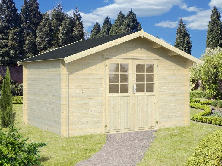 Amazing  mm Gartenhaus Greta ca x m Ger tehaus Blockhaus Holz Haus Holzhaus in Garten u
