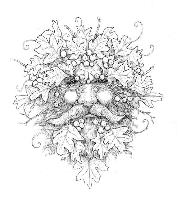 green man coloring pages - photo#6