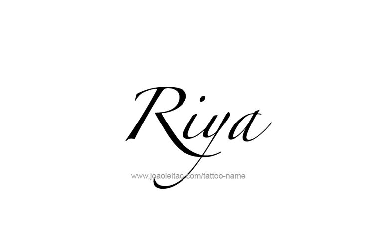 Riya Name Tattoo Designs