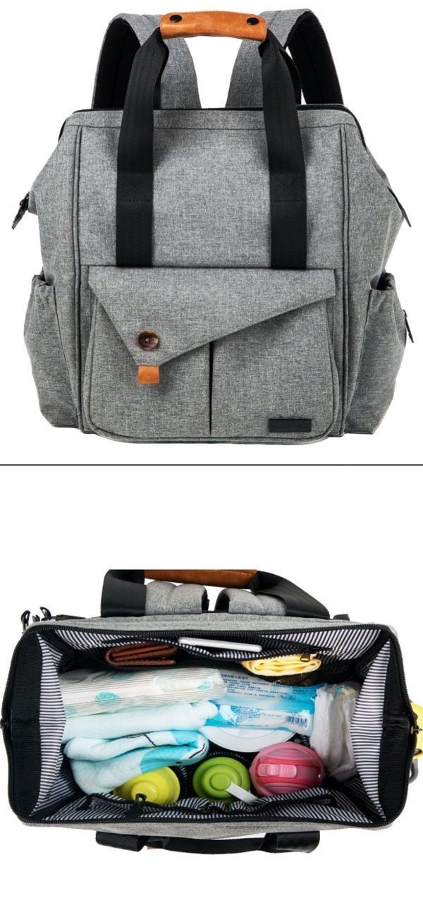 This is the perfect diaper bag. Handsfree is the way to be - Our stylish backpack style diaper bag reliably holds all your essential items for baby care (like diapers, food, and extra clothing) - freeing up your hands,You can even strap it to your stroller #Affiliate