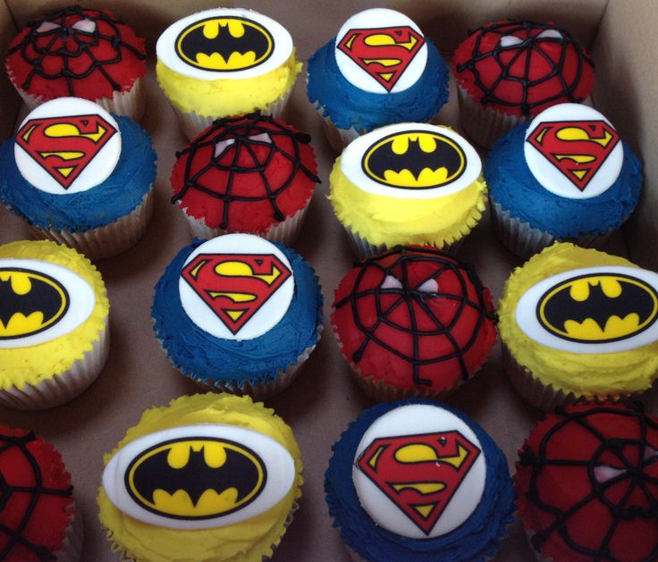Spiderman birthday cupcakes Available to order from www.miriamsmunchies.co.uk #Birthday-cakes #spiderman #boys-party