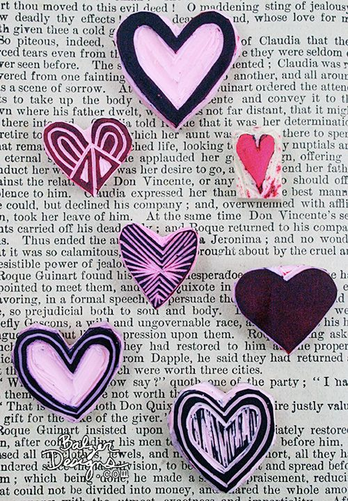 Sellos corazones   -   heart stamps