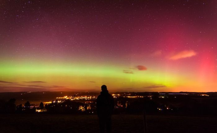 I have lived in North East England and I have never seen even a hint of the Northern Lights. This happened last night.