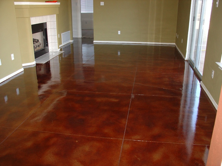28 best images about flooring walls combo on pinterest for Concrete floor stain colors