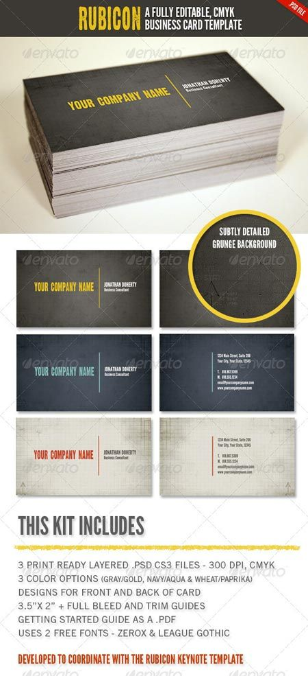 GraphicRiver Rubicon Business Card Template Set 1423951