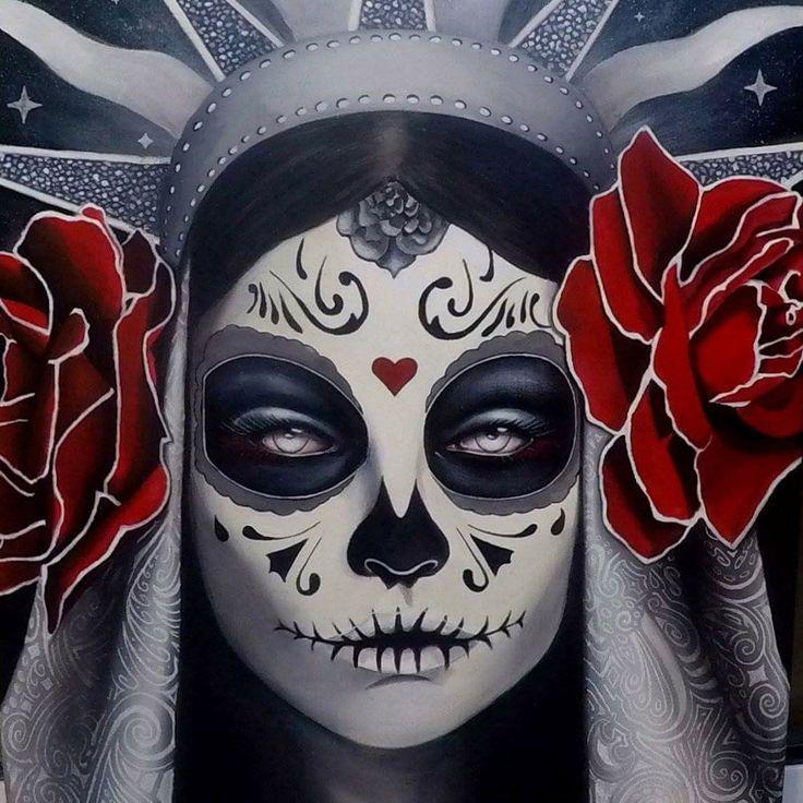 Sugar skull, day of the dead, print of original art