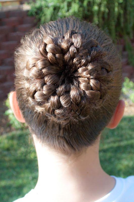 crown braids/bun. so easy