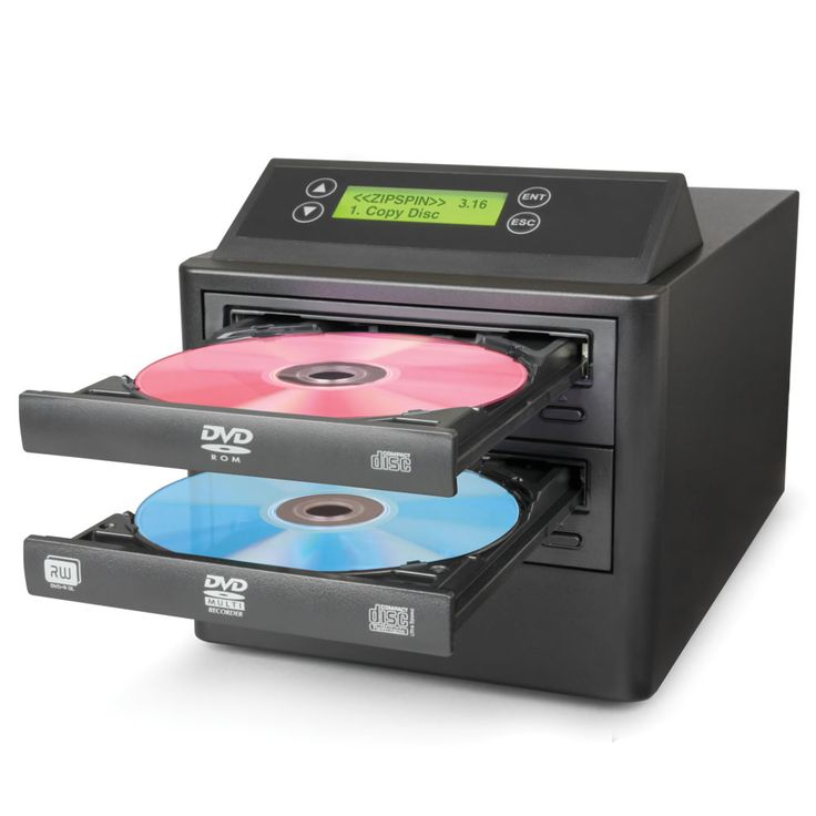 The One Step DVD/CD Duplicator - Hammacher Schlemmer - At the touch of a button, this standalone duplicator makes an exact replica of a DVD or CD in just over six minutes without the need for a PC.