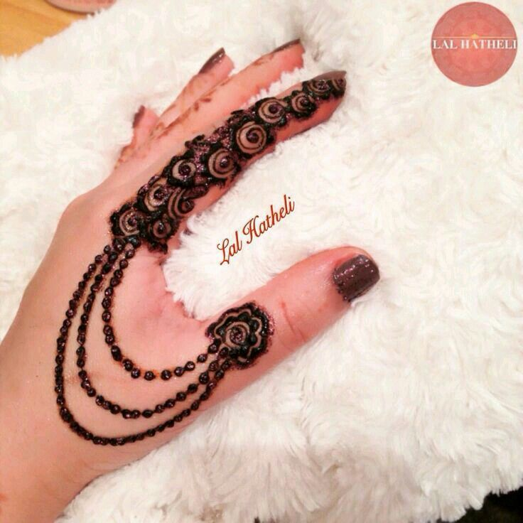 Simple & easy mehndi design