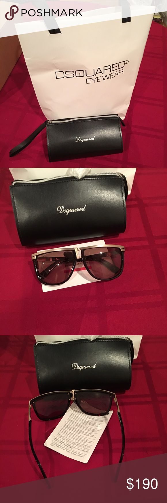 Marcus DQ0161MET/Logo metal/ Metallic and plastic frame/ tinted lenses/ composition Plastic, Metal/ Made in Italy DSQUARED Accessories Sunglasses