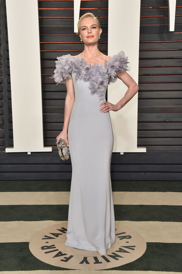 1163 Best Special Occasion Images On Pinterest Make Up Beautiful Claire Ivory Nokha Wedges Women 39 Kate Bosworth In A Dusty Lilac Gown With Feather Lined Neckline At The 2016 Vanity Fair Oscar Party Wallis Annenberg Center For Performing Arts