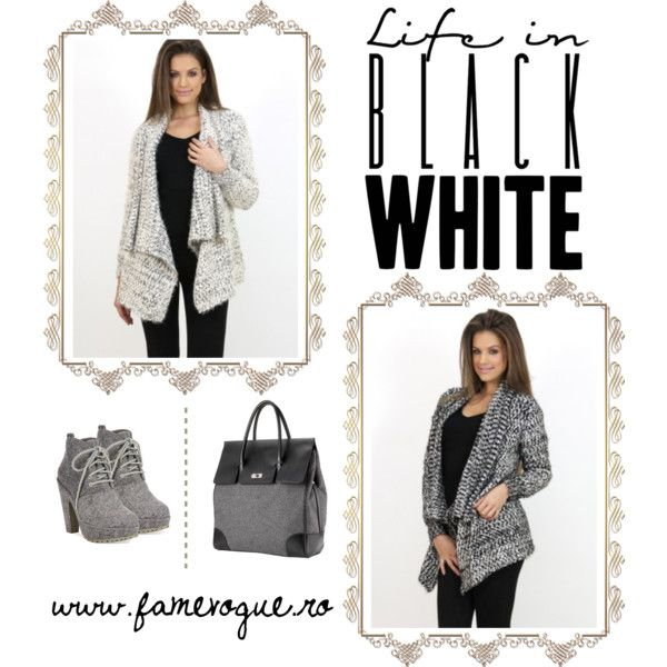 Oversized Cardigan Outfit by www.famevogue.ro on Polyvore featuring Blowfish and Mark/Giusti accessories....:)  #cardigan #casual #ootd #fashion #style