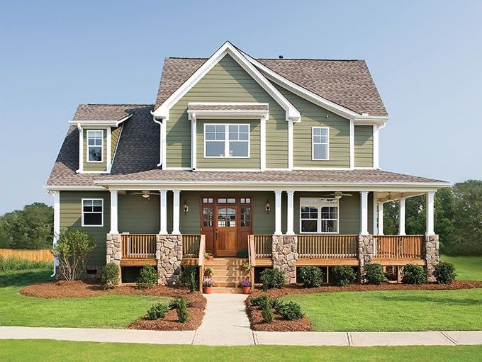 Best 25 country house plans ideas on pinterest 4 for Craftsman wrap around porch