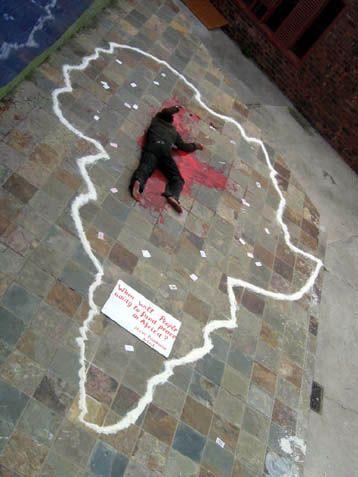 Świadomość - Steve Bandoma broni kolory kultury Konga.