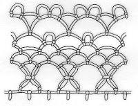 Předchozí části:   Arménská krajka  Arménská krajka - ozdobné okraje 1    Dalším dekorativním prvkem krajky je ažura . Je tvořena řadou slou...