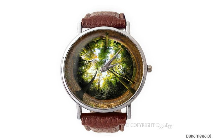zegarki - damskie-Zegarek z dużą tarczką Las - 0119