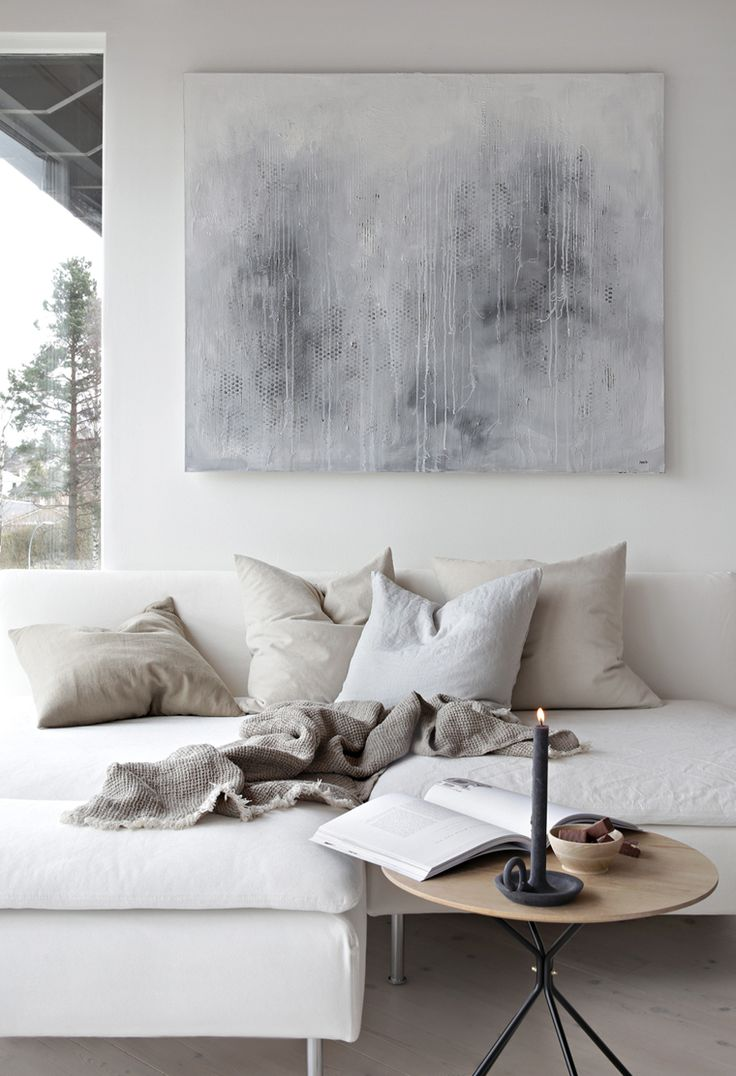 Living Room Ideas And Inspiration In The Scandinavian Style Caught Storm Painting By Nina Holst