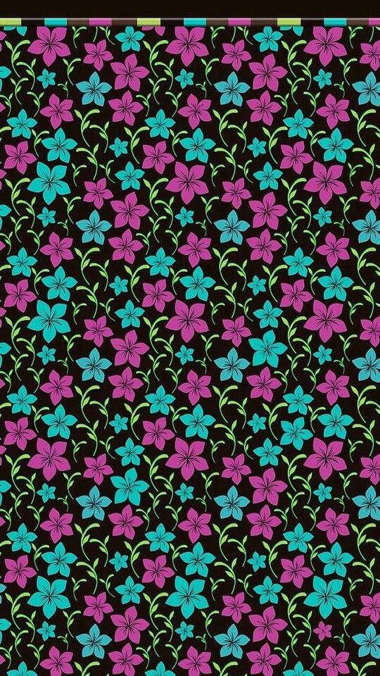Pink teal floral Wallpapers Pinterest Pink, Teal and