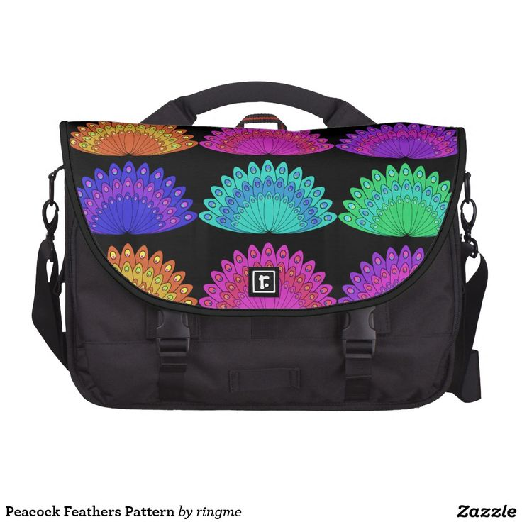 Peacock Feathers Pattern Commuter Bag