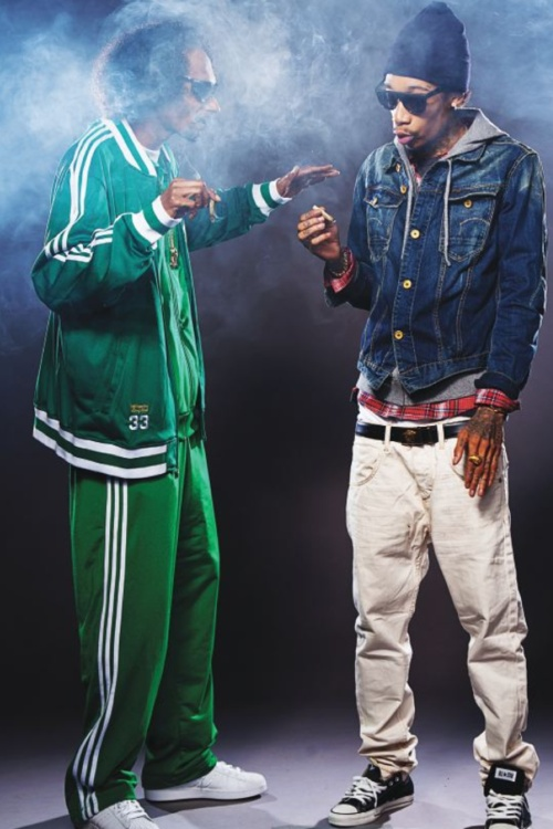 "Snoop Dogg & Wiz Khalifa in ""Mac and Devin go to high school."""