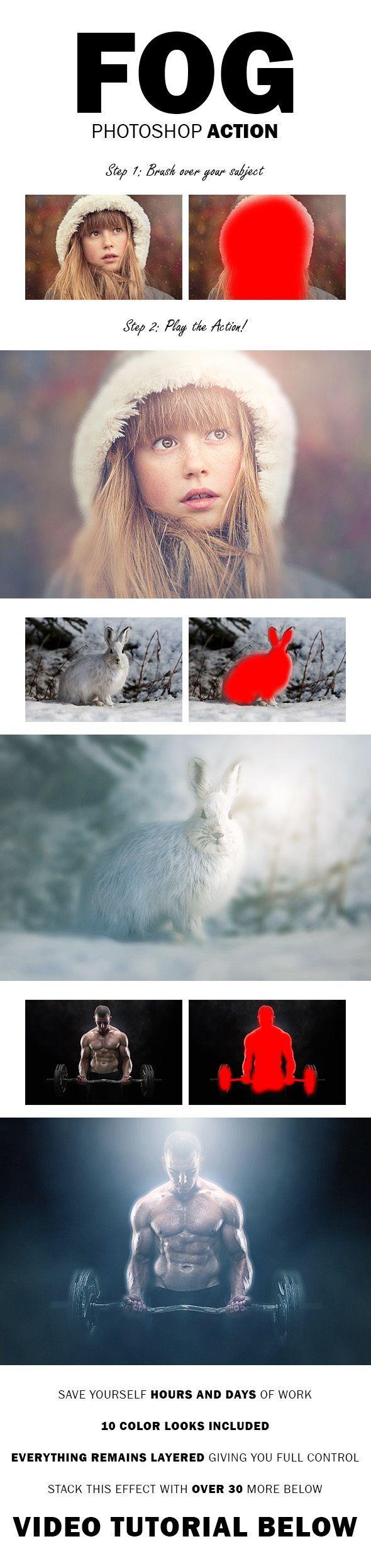 Fog - Photoshop Action. Nordic360. Photoshop tips.