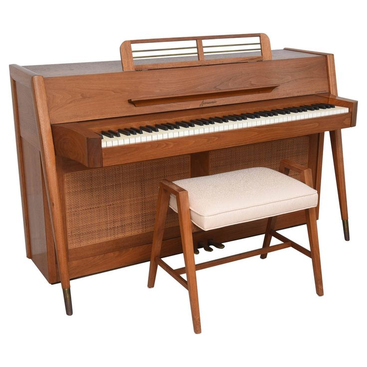 Mid-Century Modern Arcosonic Spinet Piano by Baldwin | 1stdibs.com