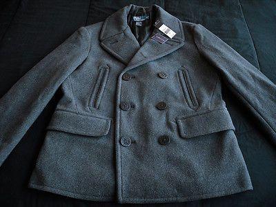 lauren ralph lauren ruffled jersey gown ralph lauren pea coat