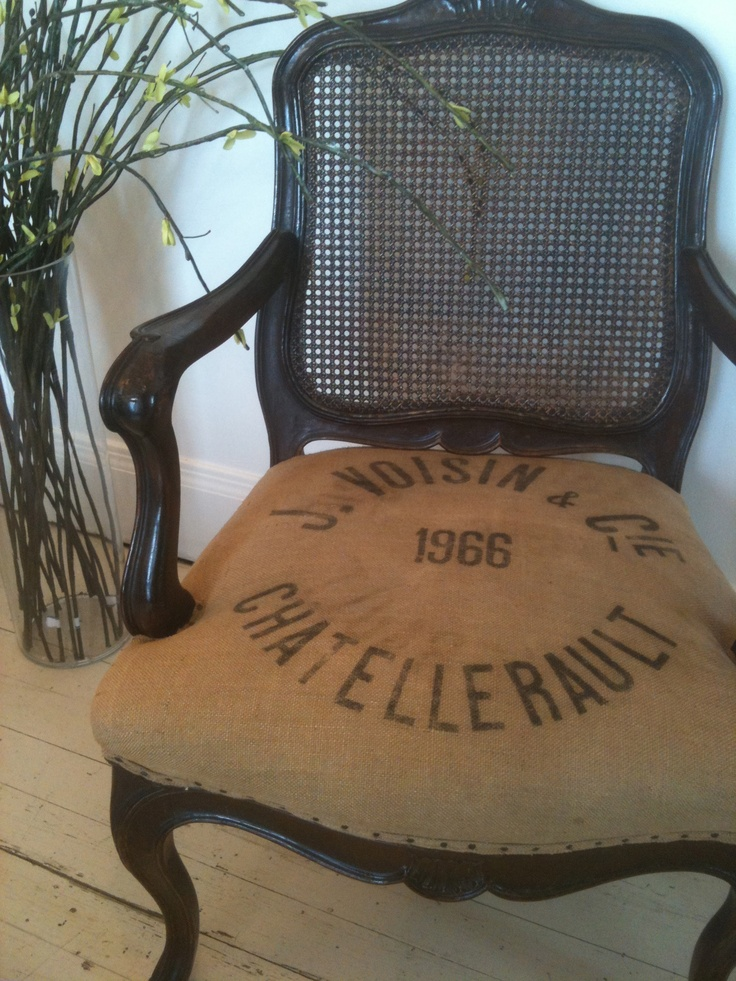 38 Best Stenciled Fabricburlapgrain Sacks Images On