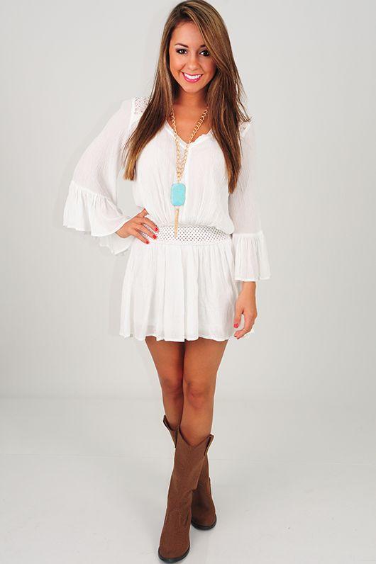 Falling In Love Dress: White