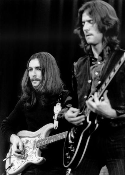 George Harrison & Eric Clapton Cool Pic, love both men! Went Through so much, but still remained friends till The sad loss of George!