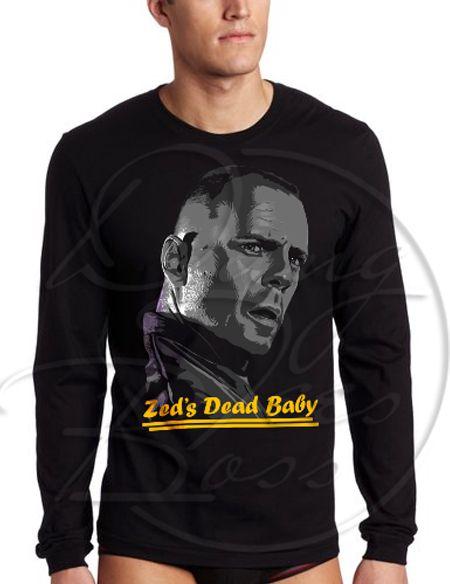 Zeds Dead Baby Pulp Fiction Quentin Tarantino Men's Long Sleeve Shirt