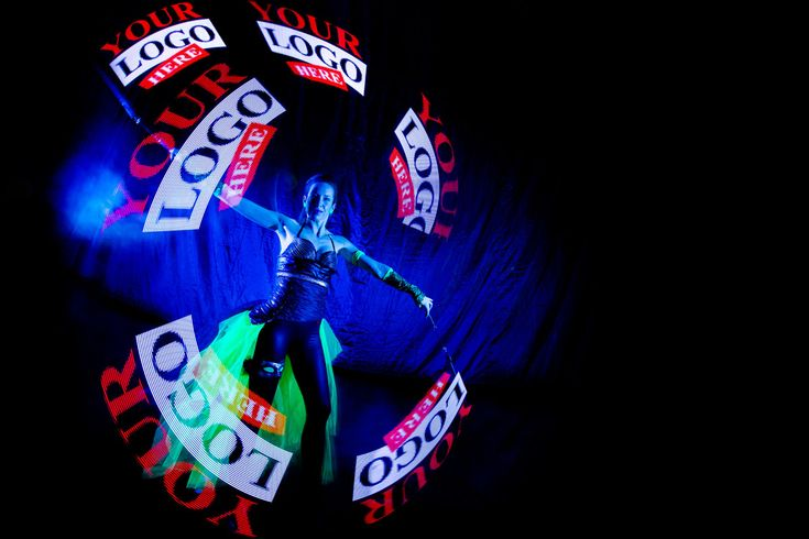 Your Logo Here Visual - Pixel Poi Anta Agni.  Visual Pixel Poi technology (also known as graphic juggling with LED poi) enables dancers and performers to display graphic elements during the performance that will become a part of the Fire or UV Light show.  http://antaagni.com/visual-pixel-show/