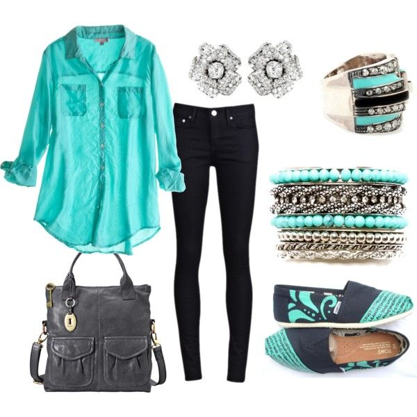 Mint Green & Gray Outfit - Love It!